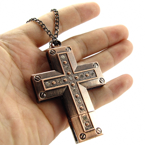 16 gb usb stick schmuck speicherstick kreuz metall cross kupfer mehrfarbig ebay. Black Bedroom Furniture Sets. Home Design Ideas