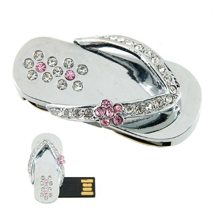 16 gb usb schmuck speicher stick speicherstick flip flop schuh sandale silber ebay. Black Bedroom Furniture Sets. Home Design Ideas